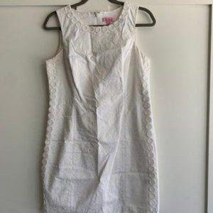 Lilly Pulitzer White Mila Lace Shift Dress - 10